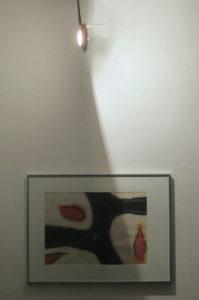 Schilderij en lamp