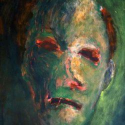 Zelfportret - acryl op papier