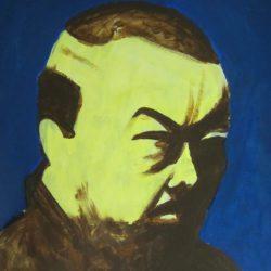 Portret Ai Weiwei - acryl op papier