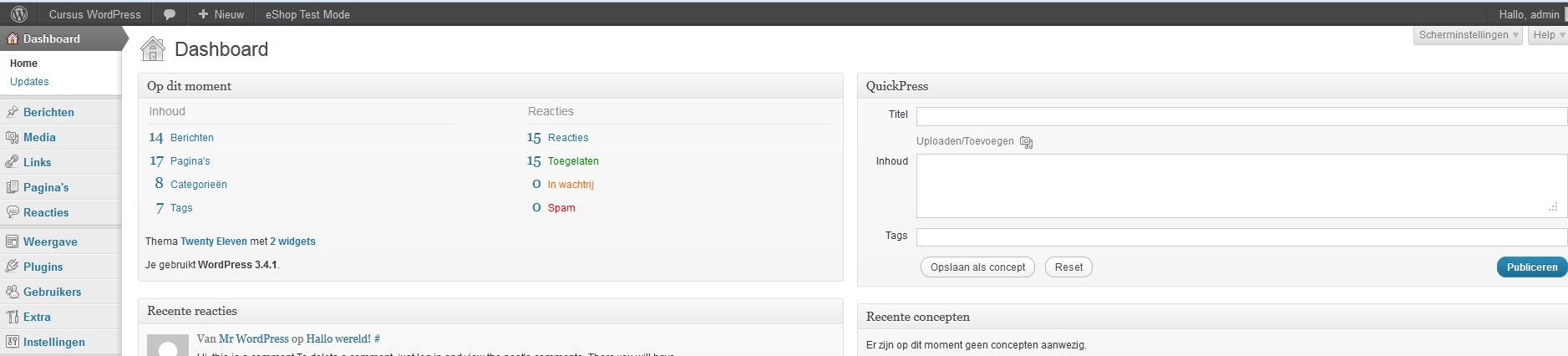 WordPress adminbalk