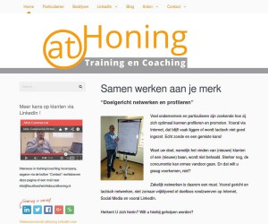 Screeenshot layout van athoning.nl gemaakt door VDG Websites