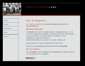 Homepage van reunieclub Geschiedenis1980
