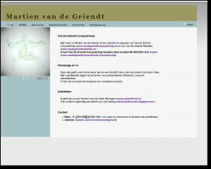 Homepage Martien van de Griendt met online cv