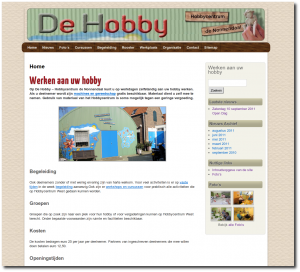 Screenshot van homepage Hobbycentrum de Nonnendaal