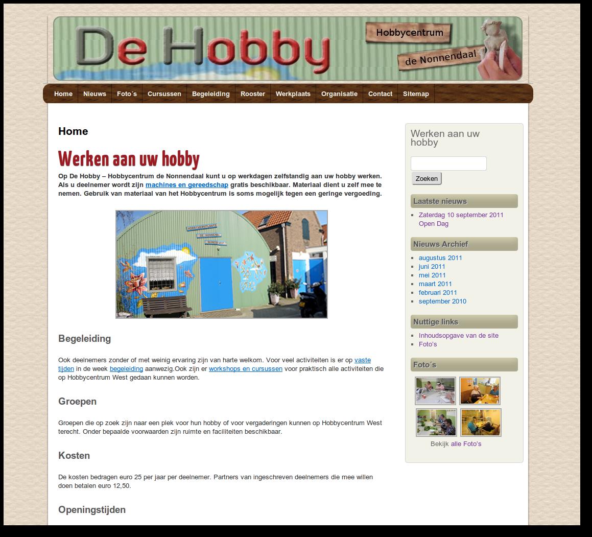 Hobby startpaginas