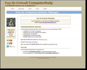 Homepage Van De Griendt Computerhulp - voor zzp-ers en particulieren