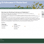 screenshot Website Stichting Krishnamurti