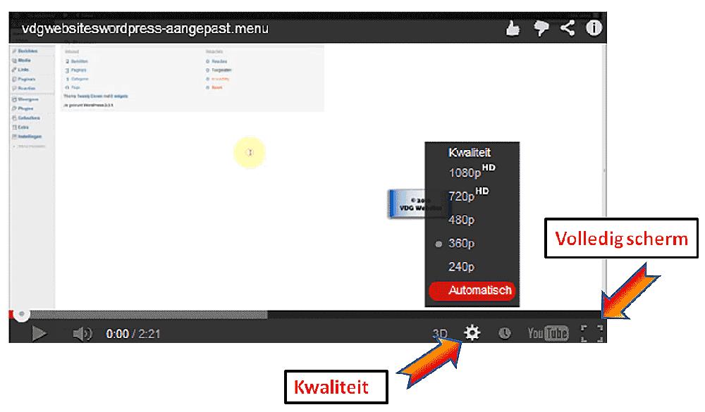 Youtube instellingen